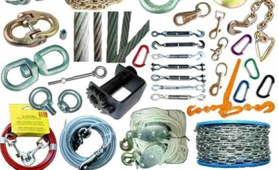 Wire rope, slings, Rigging hardware